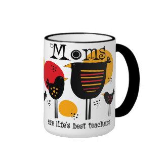 Taza del profesor de la vida de la mamá la mejor