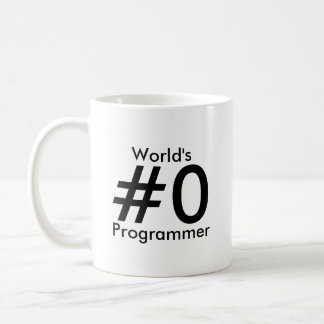 Taza del programador del #0 del mundo