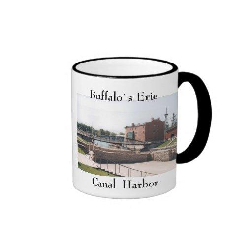 Taza del puerto del canal Erie del búfalo