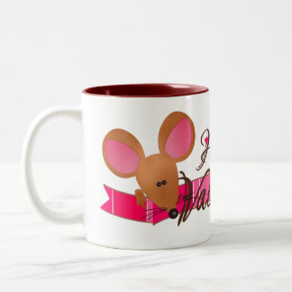 Taza del ratón de la tarjeta del día de San Valent