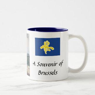 Taza del recuerdo de Bruselas