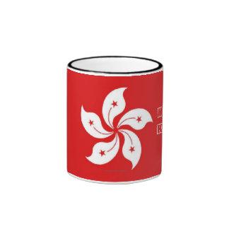 Taza del recuerdo de la bandera de Hong Kong
