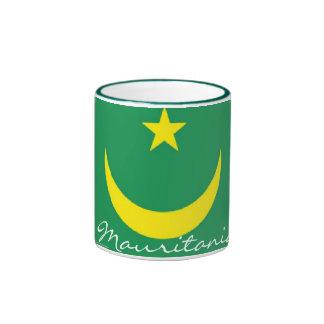 Taza del recuerdo de la bandera de Mauritania
