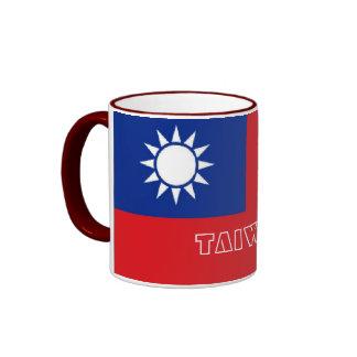 Taza del recuerdo de la bandera de Taiwán