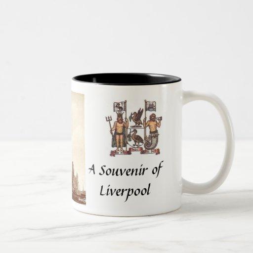 Taza del recuerdo de Liverpool