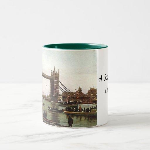 Taza del recuerdo de Londres - puente de la torre