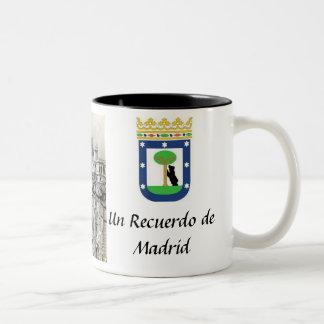 Taza del recuerdo de Madrid