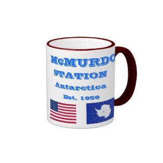 Taza del recuerdo de McMurdo la Antártida