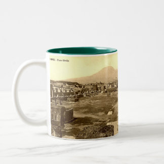 Taza del recuerdo de Pompeya
