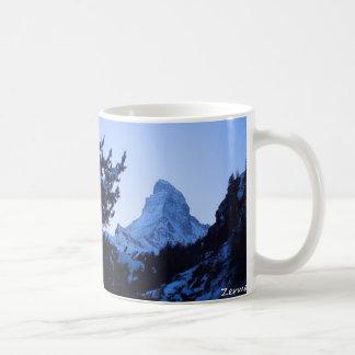 Taza del recuerdo de Zermatt