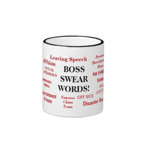 ¡Taza del regalo de Boss - molestando! - Boss jura