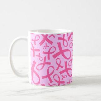 Taza del regalo de la cinta del rosa del cáncer de