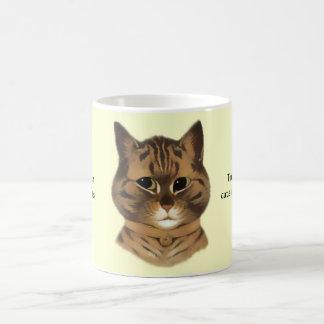 Taza del regalo de la cita del gato de Tabby de