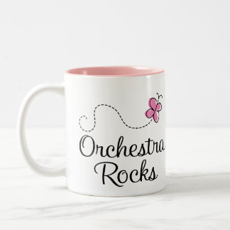 Taza del regalo de la música de rocas de la orques