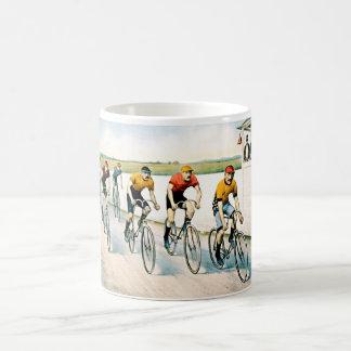 Taza del regalo de la raza del ciclista del