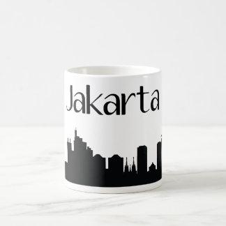Taza del regalo de la señal de Jakarta, Indonesia