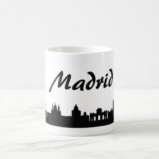 Taza del regalo de la señal de Madrid, España