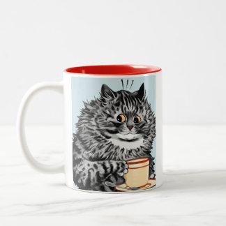 Taza del regalo del arte del gato de la taza de té