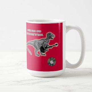 Taza del regalo del eje de balancín del dinosaurio