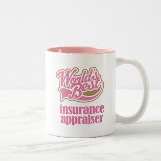 Taza del regalo del tasador del seguro (mundos mej
