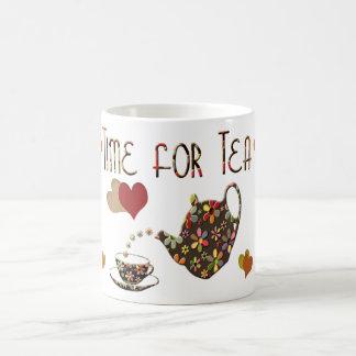 Taza del regalo del tiempo del té