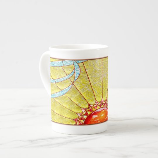 Taza del reino de Sun de la porcelana de hueso