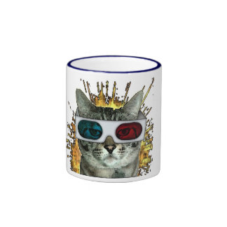 Taza del reloj 3D del gato también