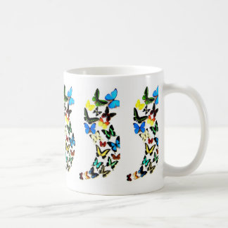 Taza del remolino de la mariposa