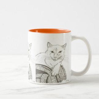 Taza del retrato de Ragdoll del gato
