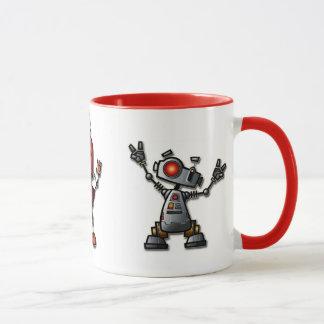 Taza del robot de la diversión