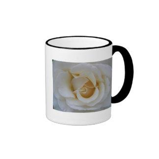 Taza del rosa blanco