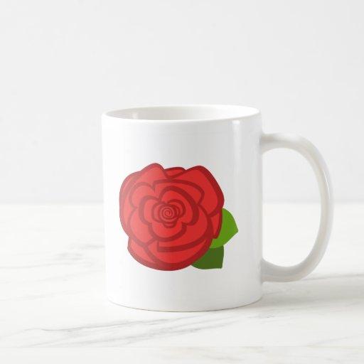 Taza del rosa rojo