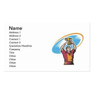 Taza del rugbi plantilla de tarjeta de visita