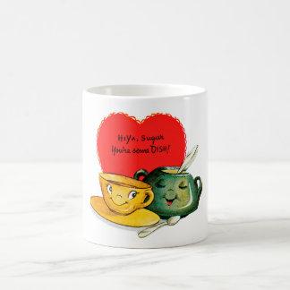 Taza del saludo del el día de San Valentín del