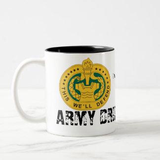 Taza del sargento de taladro café