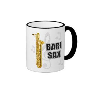 Taza del saxofón del barítono
