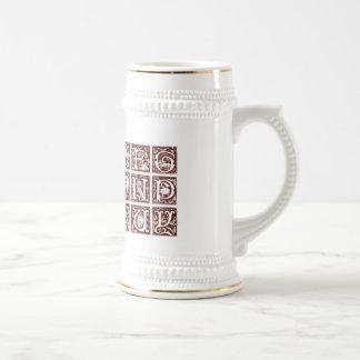 Taza del siglo XVI del alfabeto