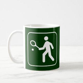 Taza del símbolo del tenis