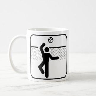 Taza del símbolo del voleibol
