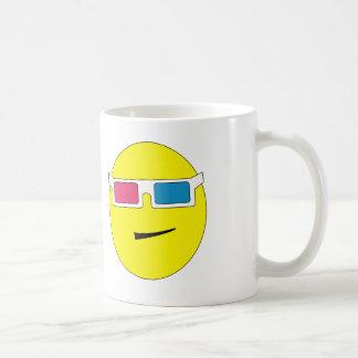taza del smiley de los vidrios 3D
