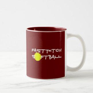 Taza del softball de Fastpitch
