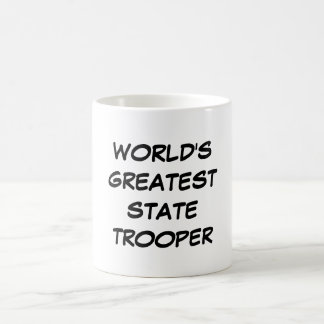 """""""Taza del soldado de caballería estatal más grande Taza De Café"""