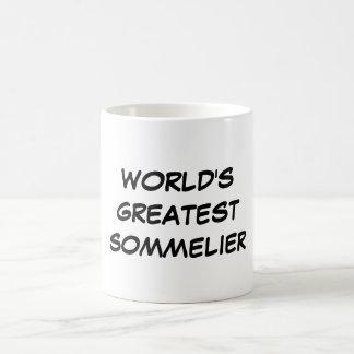 """""""Taza del Sommelier más grande del mundo"""" Taza Básica Blanca"""