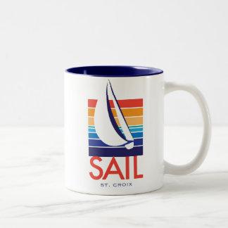 Taza del St Croix de Square_SAIL del color del ba
