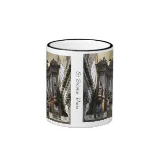 Taza del St Sulpice con el borde coloreado