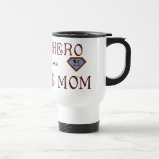 Taza del superhéroe de la madre soltera