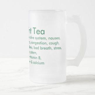 Taza del té de la hierbabuena