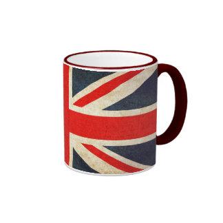 Taza del té de Union Jack del Grunge