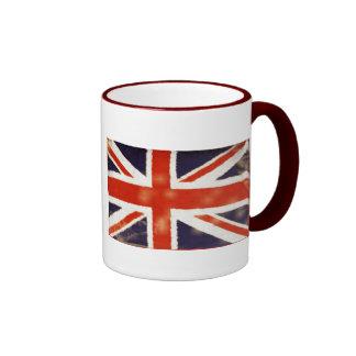 Taza del té de Union Jack del vintage