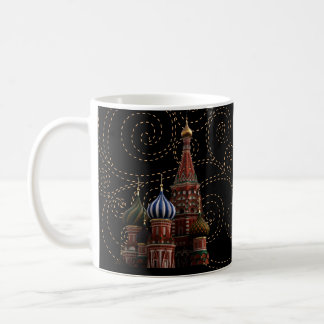 Taza del té del café de la catedral de la albahaca